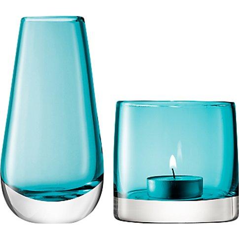 Lsa International Flower Bud Vase And Tealight Holder