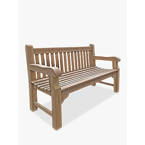 The Oak And Rope Company Personalised 3-Seater Parkl...
