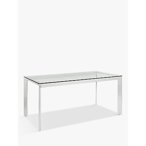 John Lewis & Partners Tropez 6 Seater Glass Top Dini...