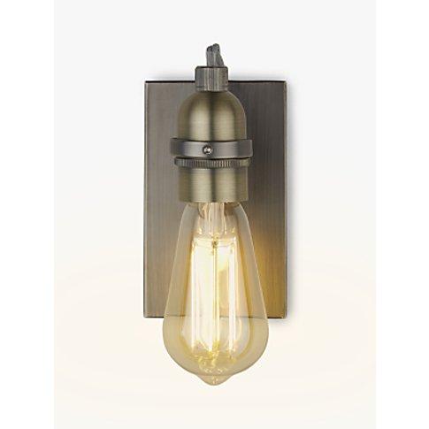 John Lewis & Partners Bistro Bulb Wall Light, Antiqu...