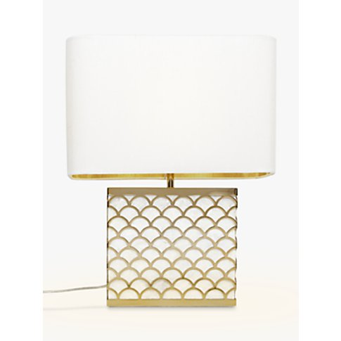 John Lewis & Partners Delores Capiz Shell Table Lamp...