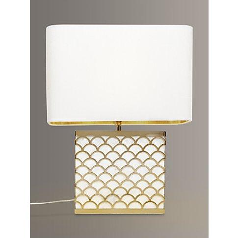John Lewis & Partners Delores Capiz Shell Table Lamp...