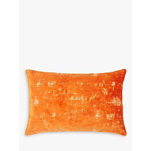 John Lewis & Partners Distressed Velvet Cushion