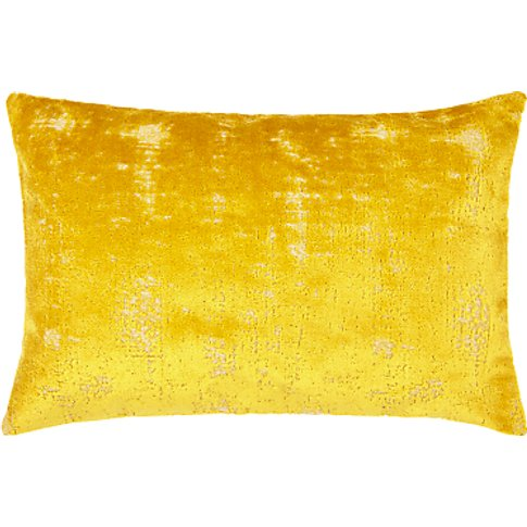 John Lewis & Partners Distressed Velvet Cushion