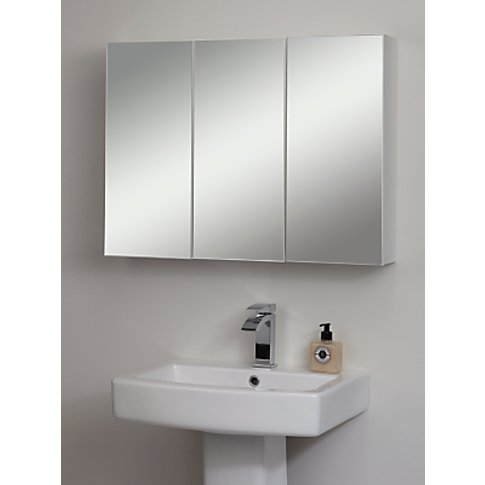 John Lewis & Partners Triple Mirrored Bathroom Cabin...