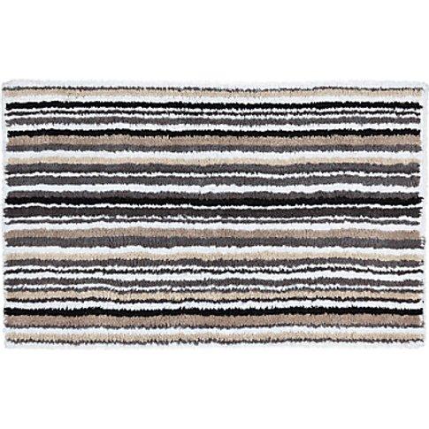 John Lewis & Partners Multi Stripe Reversible Bath Mat