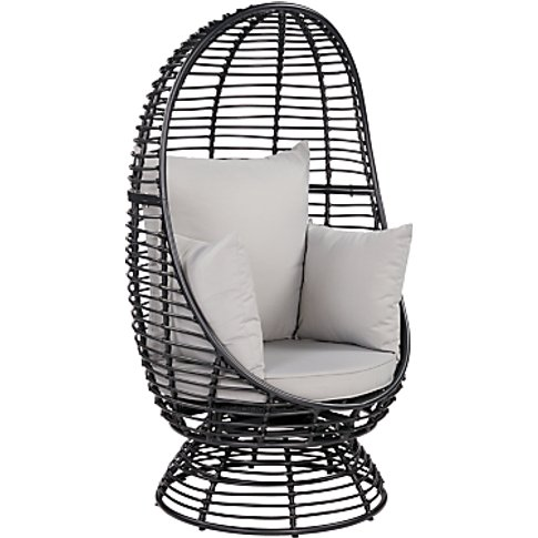John Lewis & Partners Cabana Swivel Pod Garden Chair...