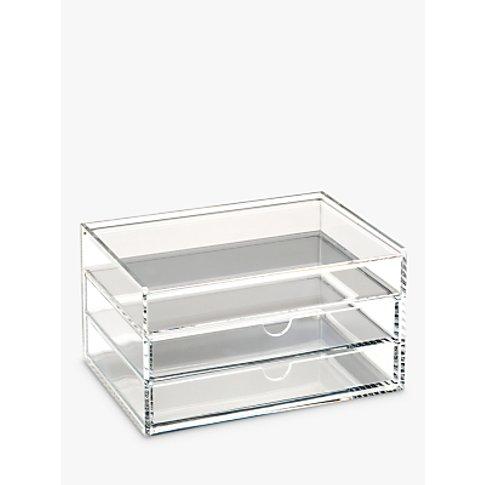 Osco Acrylic 3 Drawer Storage Unit With Lid