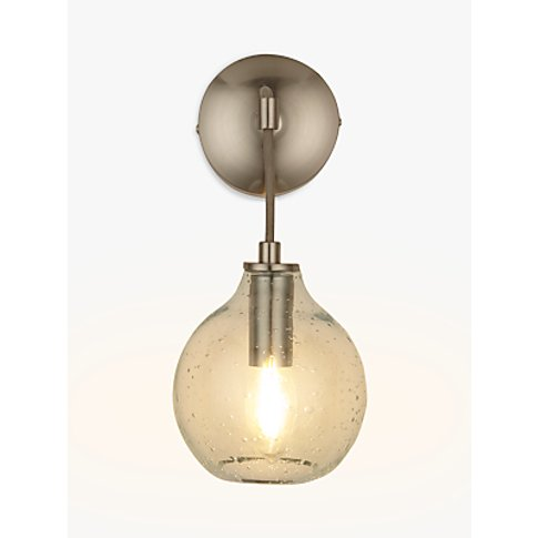 Croft Collection Selsey Wall Light, Blue Tinted