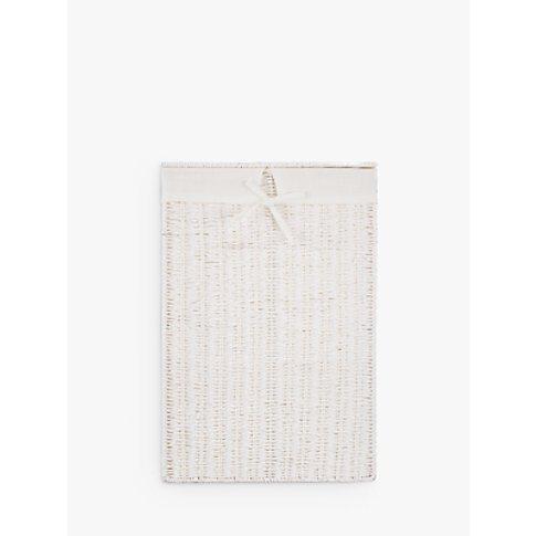 John Lewis & Partners Rope Single Laundry Basket, White