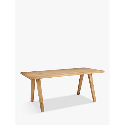 Croft Collection Lorn 6 Seater Dining Table, Oak