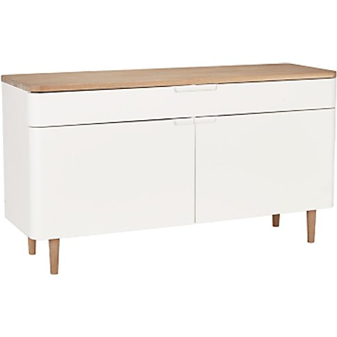 Ebbe Gehl for John Lewis Mira Sideboard, White/Oak