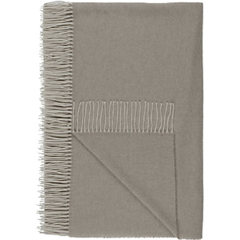 Croft Collection 100% Cashmere Throw, Grey