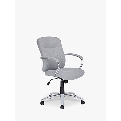 John Lewis & Partners Warner Fabric Office Chair, Grey