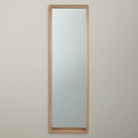 House By John Lewis Rounded Mirror, 140 X 40cm, Oak