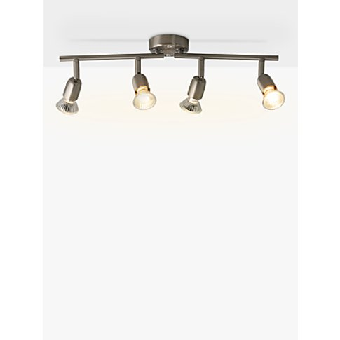 House By John Lewis 4 Spotlight Ceiling Bar, Brushed...