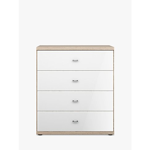 John Lewis & Partners Satis Glass Front 4 Drawer Chest