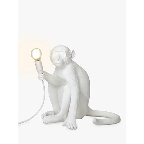 Seletti Sitting Monkey Table Lamp, White