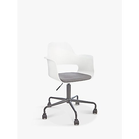 House By John Lewis Whistler Office Armchair, White/...