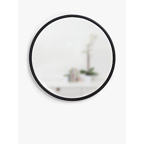 Umbra Rubber Hub Round Mirror, Dia.60cm, Black