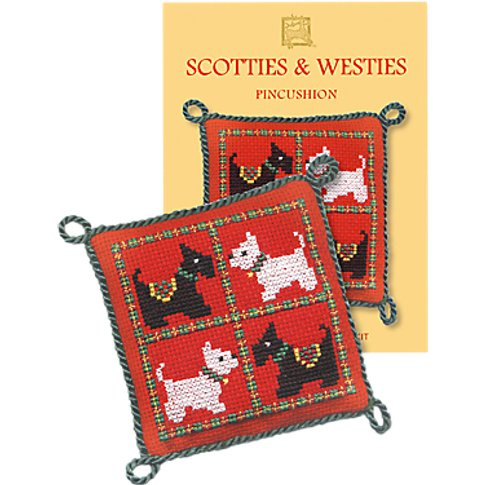Textile Heritage Scotties & Westies Cushion Counted ...