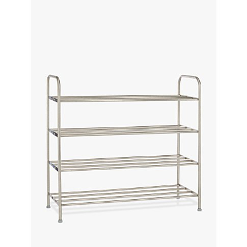 John Lewis & Partners 4 Tier Stainless Steel Shoe Ra...