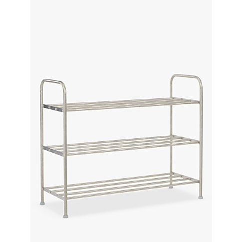 John Lewis & Partners 3 Tier Stainless Steel Shoe Ra...