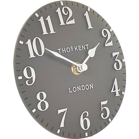 Thomas Kent Arabic Mantel Clock, Dia.15cm