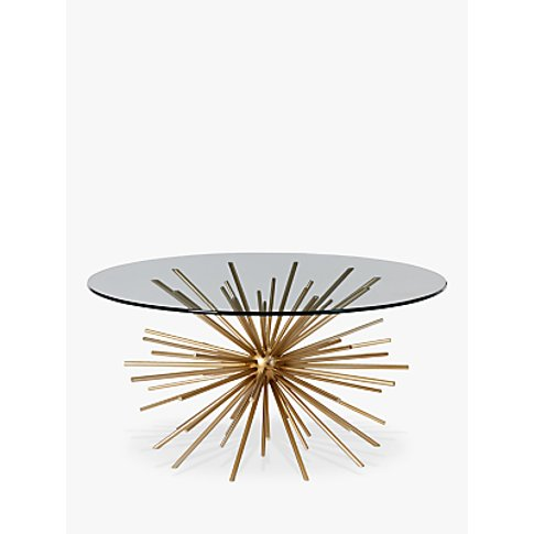 West Elm Sputnik Coffee Table, Brass / Glass