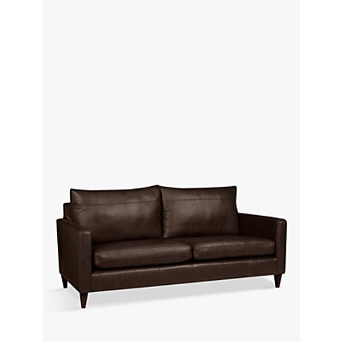 John Lewis & Partners Bailey Large 3 Seater Leather ...