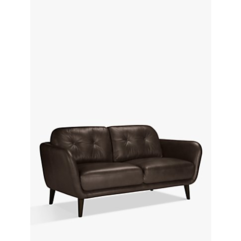 House By John Lewis Arlo Medium 2 Seater Leather Sof...