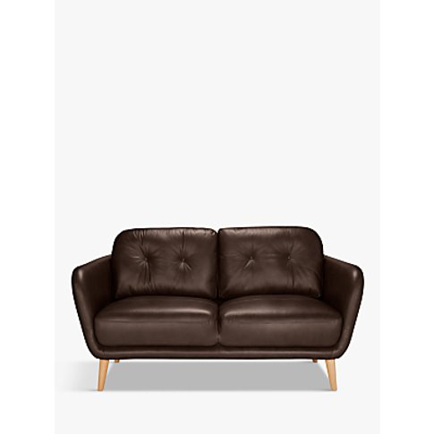 House By John Lewis Arlo Small 2 Seater Leather Sofa...