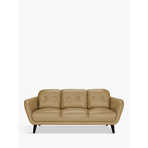 House By John Lewis Arlo Large 3 Seater Leather Sofa...
