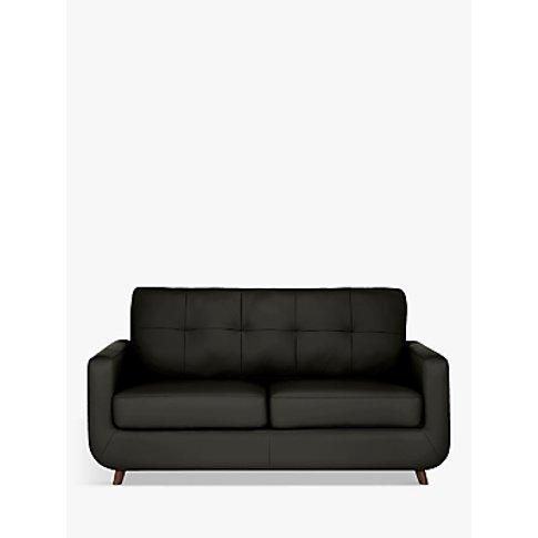 John Lewis & Partners Barbican Medium 2 Seater Leather Sofa, Dark Leg