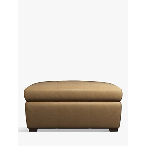 John Lewis & Partners Tortona Leather Footstool