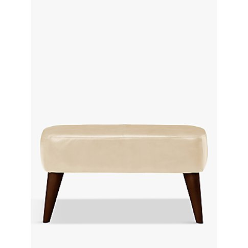 John Lewis & Partners Bergen Leather Footstool, Dark...
