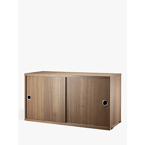 String Storage Cabinet Section With Sliding Doors