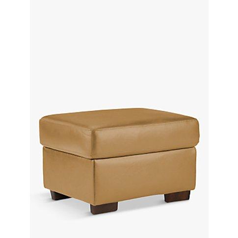 John Lewis & Partners Camden Leather Storage Footsto...