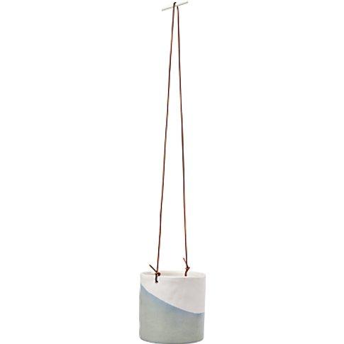 Burgon & Ball Indoor Hanging Planter, Blue Grey