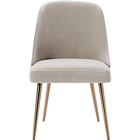 west elm Mid-Century Velvet Dining Chair, Dove Grey
