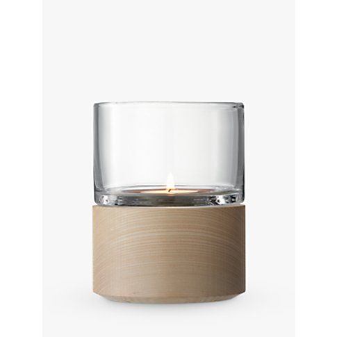 LSA International Lotta Lantern & Ash Base Candle Ho...