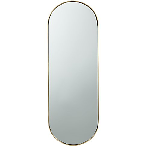 House By John Lewis Lozenge Mirror, 77 X 27cm, Brass