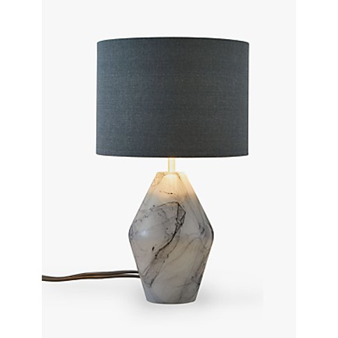 John Lewis & Partners Ada Dual Lit Glass Table Lamp,...