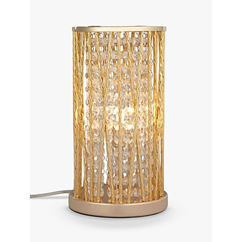 John Lewis & Partners Emilia Jazzy Table Lamp, Gold