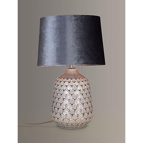 John Lewis & Partners Natalie Ceramic Table Lamp, Grey