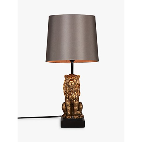 John Lewis & Partners Rory Lion Table Lamp, Brass
