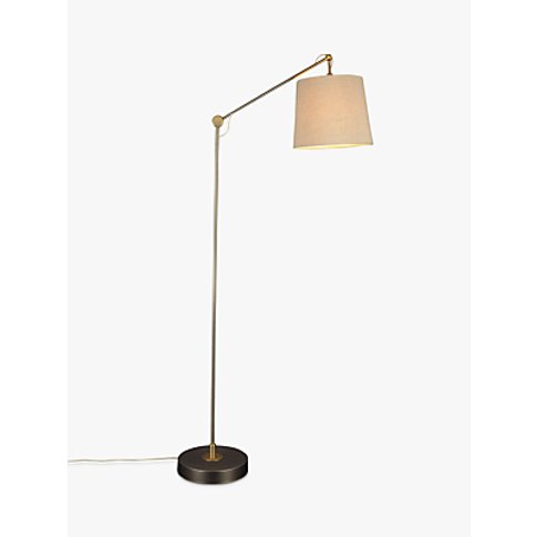 Croft Collection Ansel Floor Lamp, Aged Nickel
