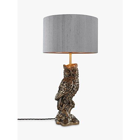 David Hunt Owl Table Lamp, Bronze