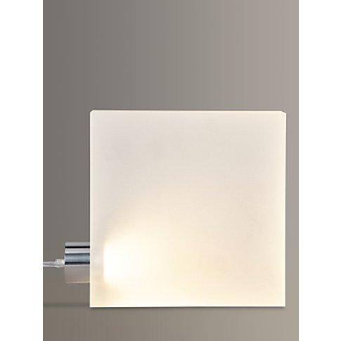 John Lewis & Partners Block Led Table Lamp, White