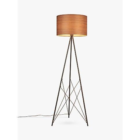 John Lewis & Partners Mia Floor Lamp, Walnut